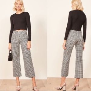 New Reformation Fawcett Cropped Jeans In Mia